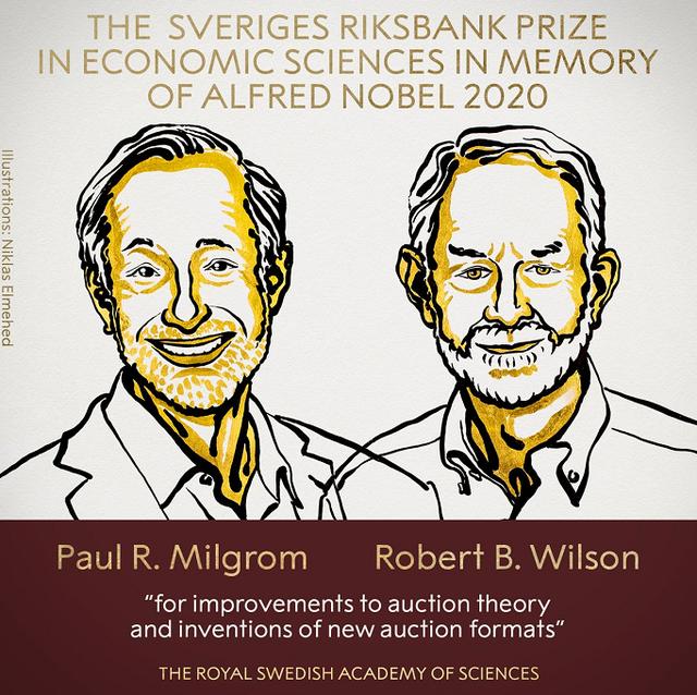 2020年诺贝尔经济学奖揭晓:获得者是两位美国经济学家